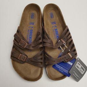 New Birkenstock Granada Leather Sandals